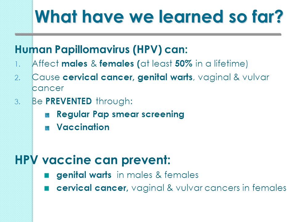 hpv vaccine pap smear