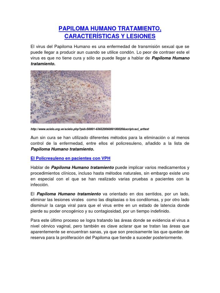 virus del papiloma humano caracteristicas