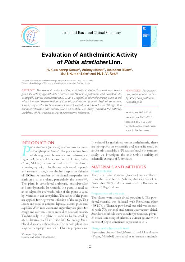 Antihelmintic natural
