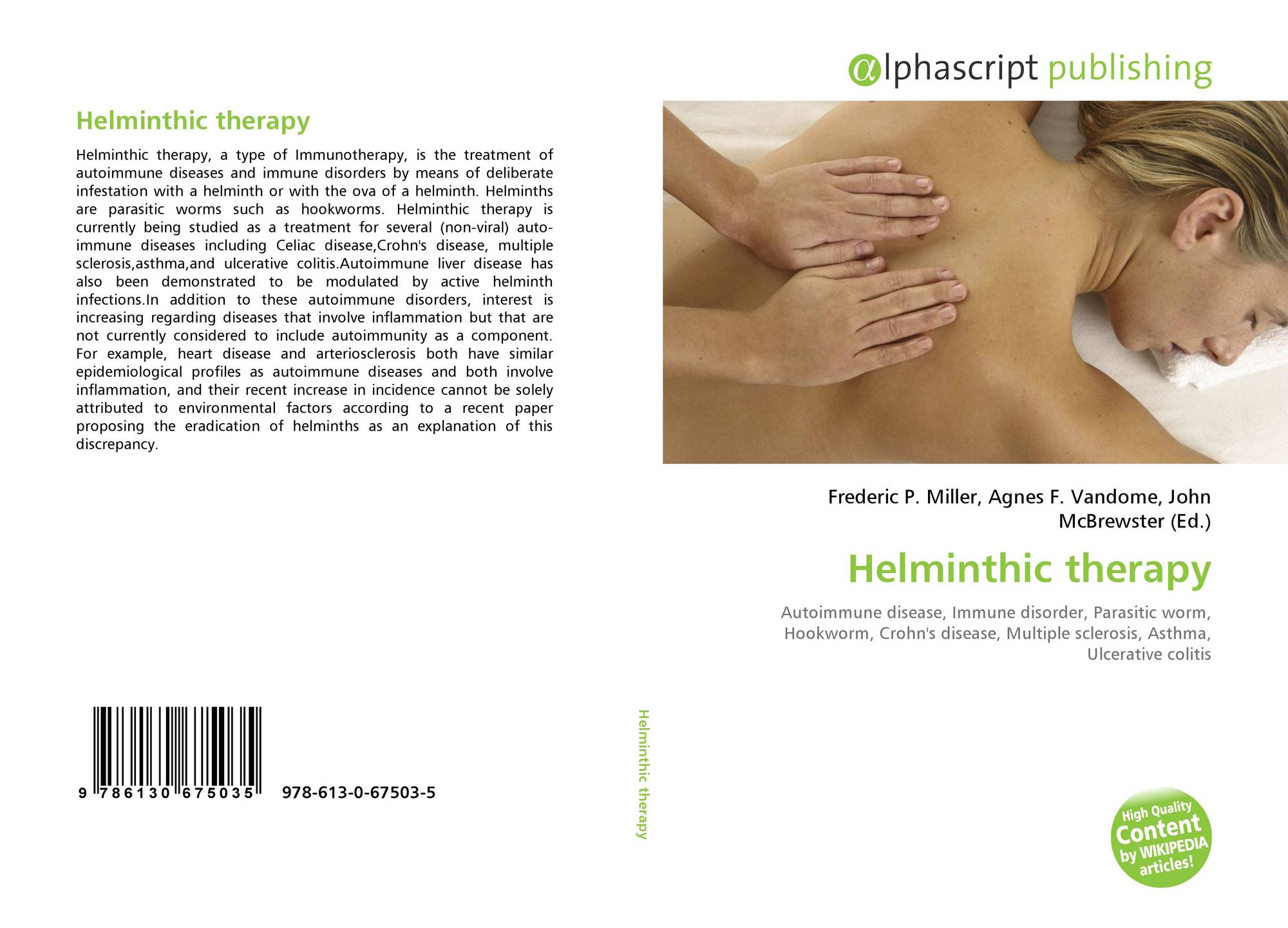 helminth therapy immune disorders