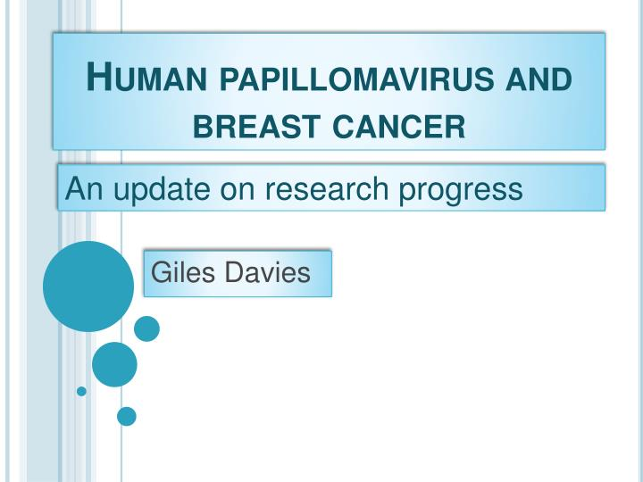 breast cancer and human papillomavirus vaccin papillomavirus garcon belgique