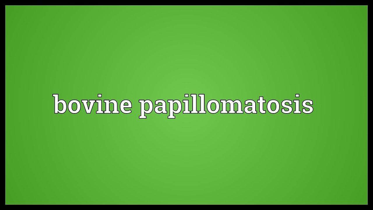 papillomatosis meaning cancerul bacterian la mar