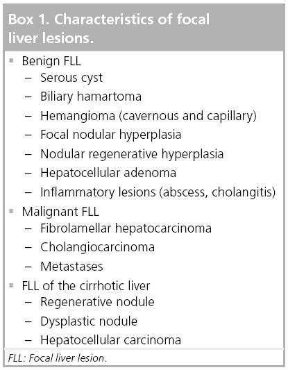 cancer focal hepatic lesions