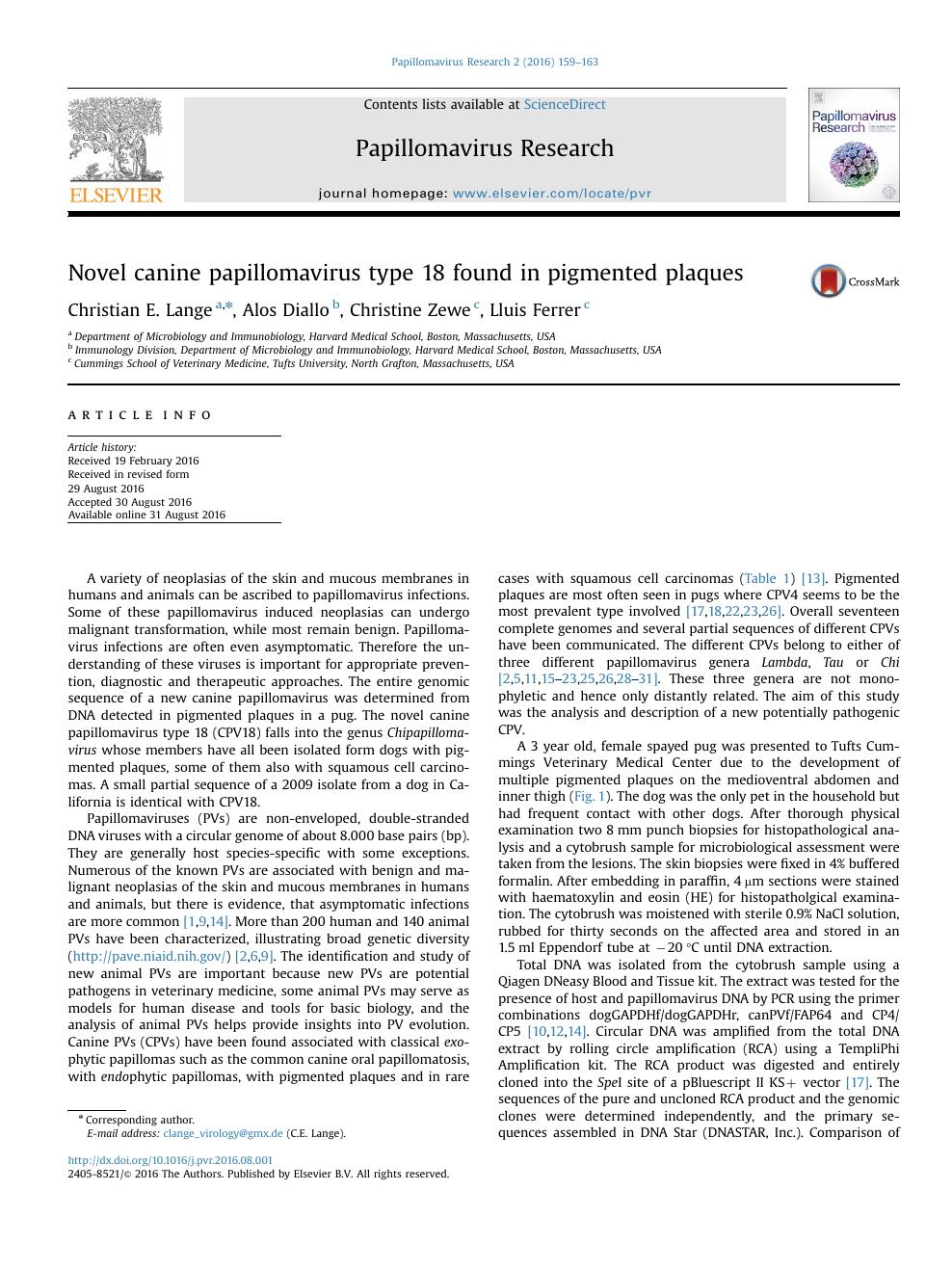 journal papillomavirus research