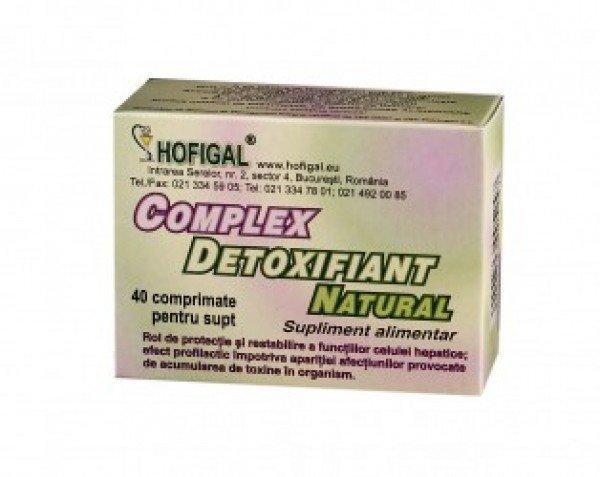 Complex detoxifiant, 40 comprimate, Hofigal : Farmacia Tei
