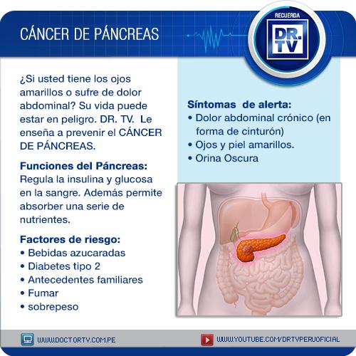 cancer de pancreas dolor