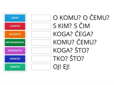 hrvatski jezik 5 razred padezi testovi