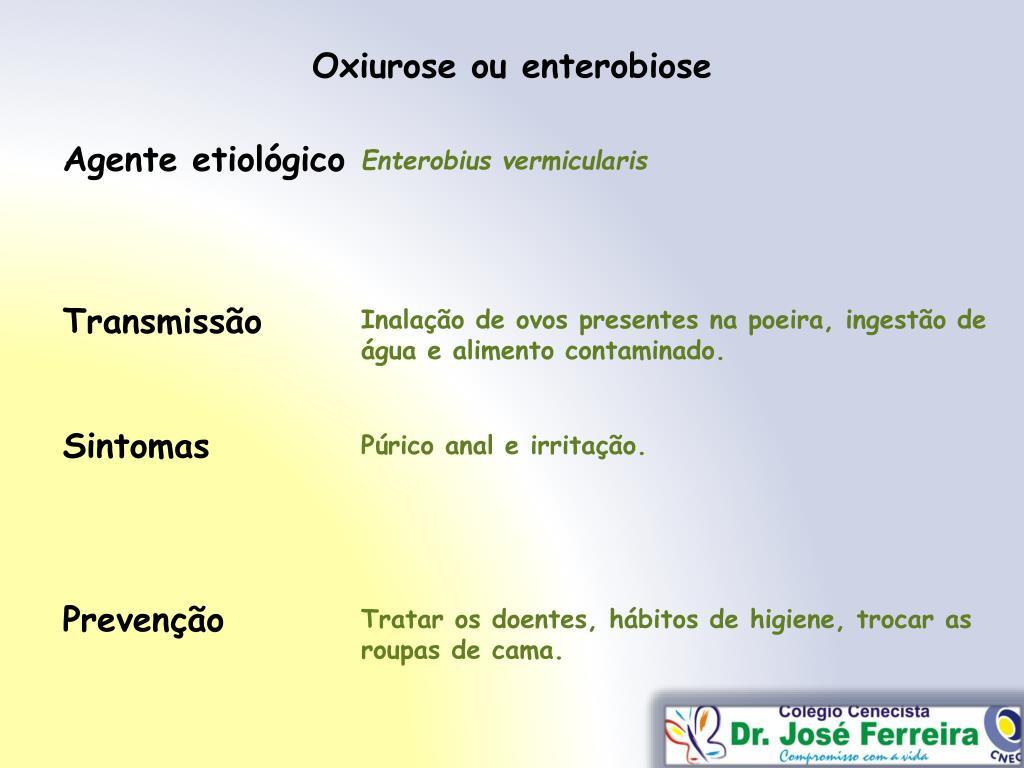 enterobius vermicularis prevencao