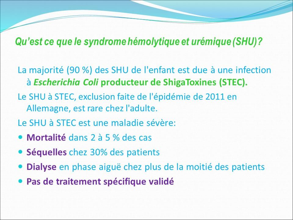 shiga toxine traitement