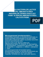 Bacterii Utilizate in Industria Alimentara