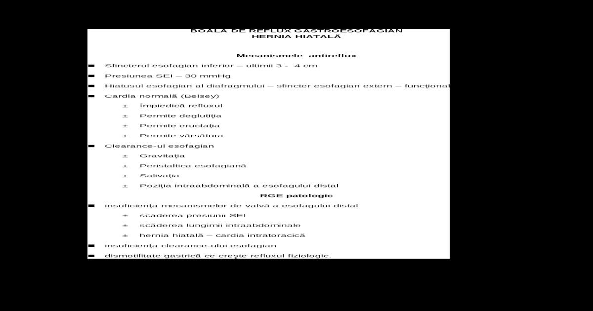 Diagnosticul clinic si paraclinic in cancerul de esofag