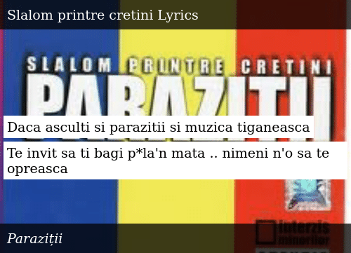 parazitii something to say lyrics