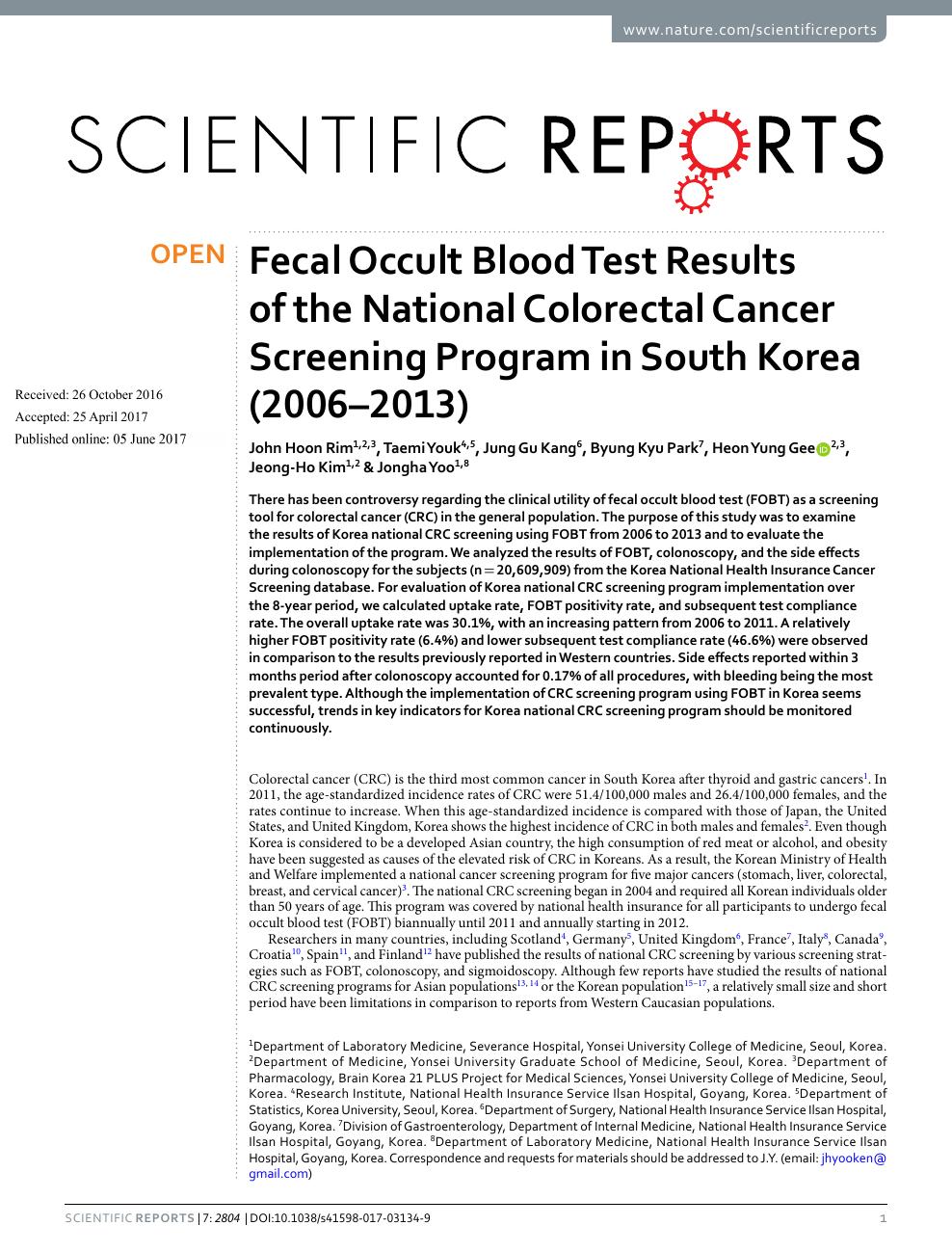 colorectal cancer korean