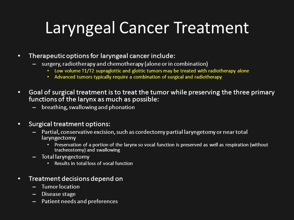 laryngeal cancer treatment