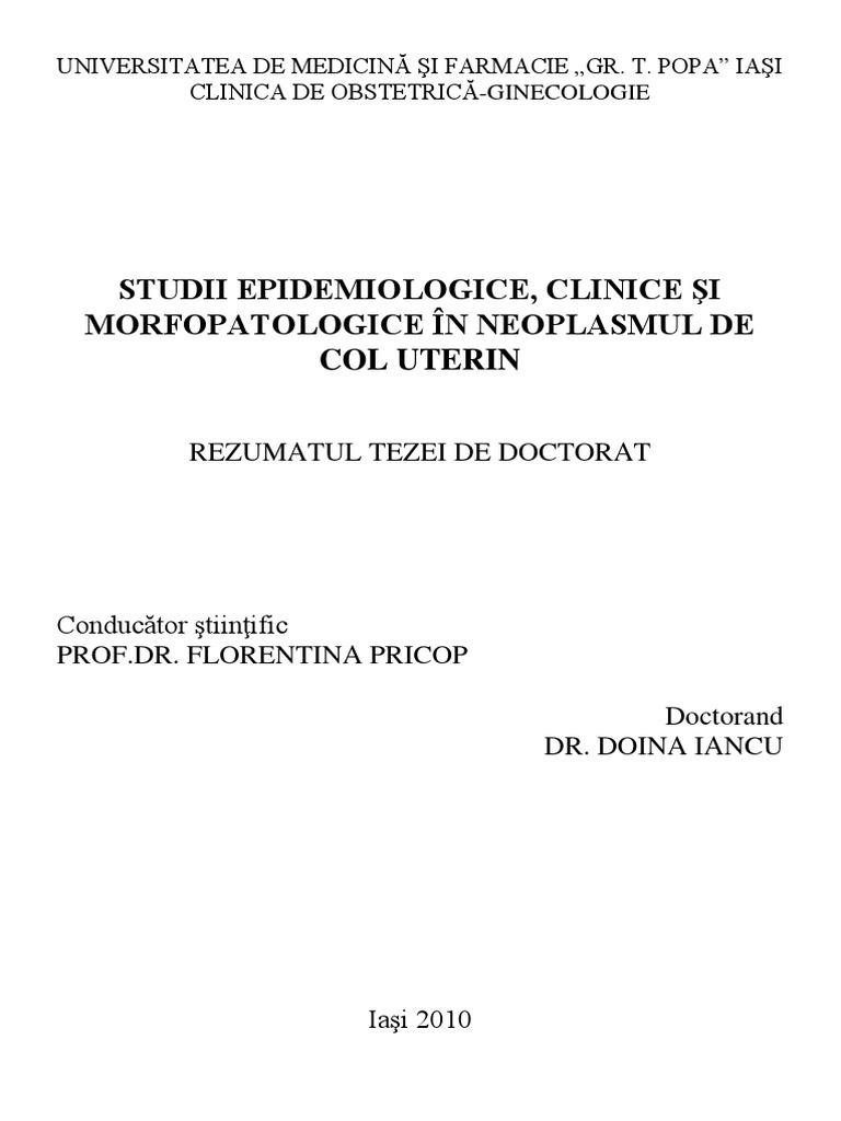 cancerul de col uterin morfopatologie