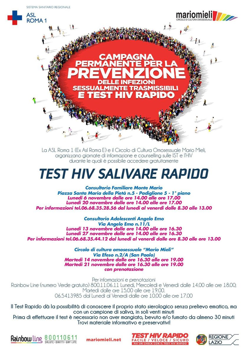 test hiv anonimo roma cancer of peritoneal carcinomatosis