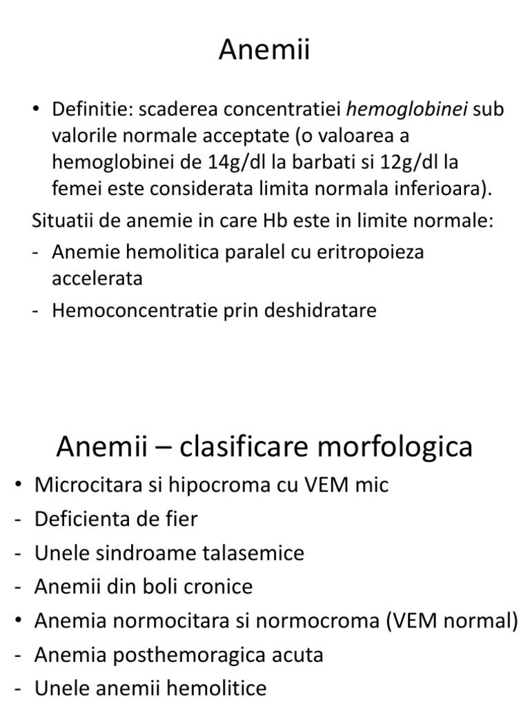 anemie normocitara