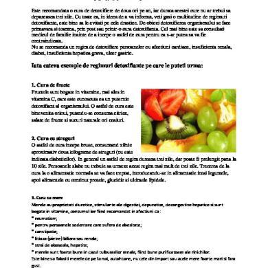 cura de detoxifiere 9 zile