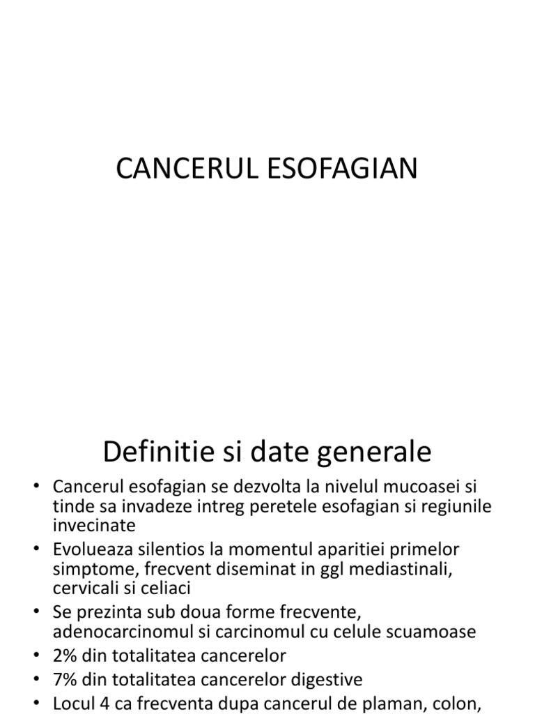 cancer esofagian etiologie