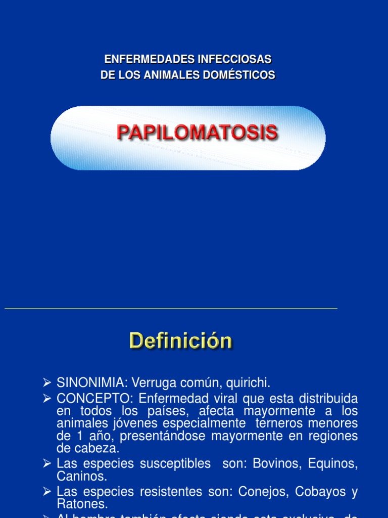 papilomatosis bovina diagnostico diferencial