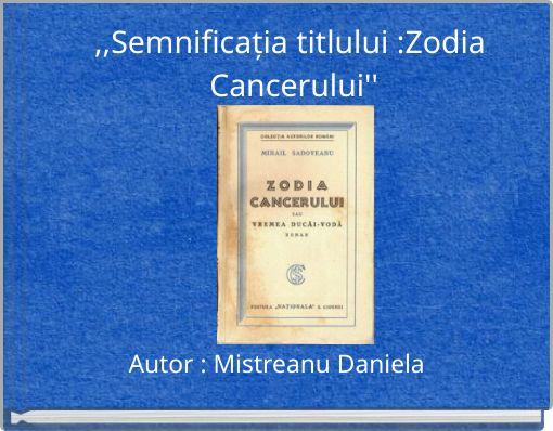 Zodia Cancerului- crîmpee istorice by Veronika Bezdrighin on Prezi