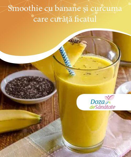 Smoothie cu banane și curcuma care curăță ficatul — Doza de Sănătate