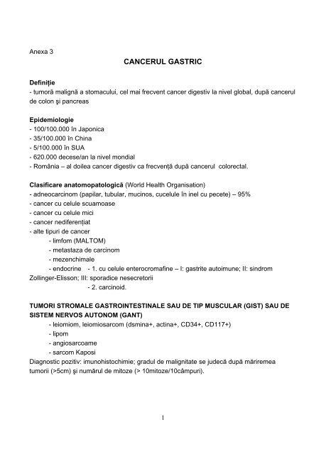 cancerul gastric simptomatologie