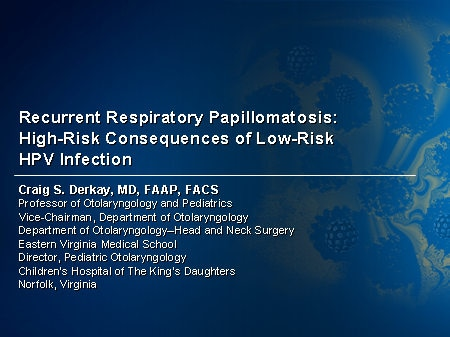 recurrent respiratory papillomatosis hpv vaccine