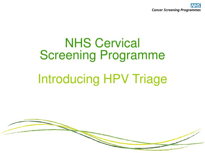 nhs hpv guidance