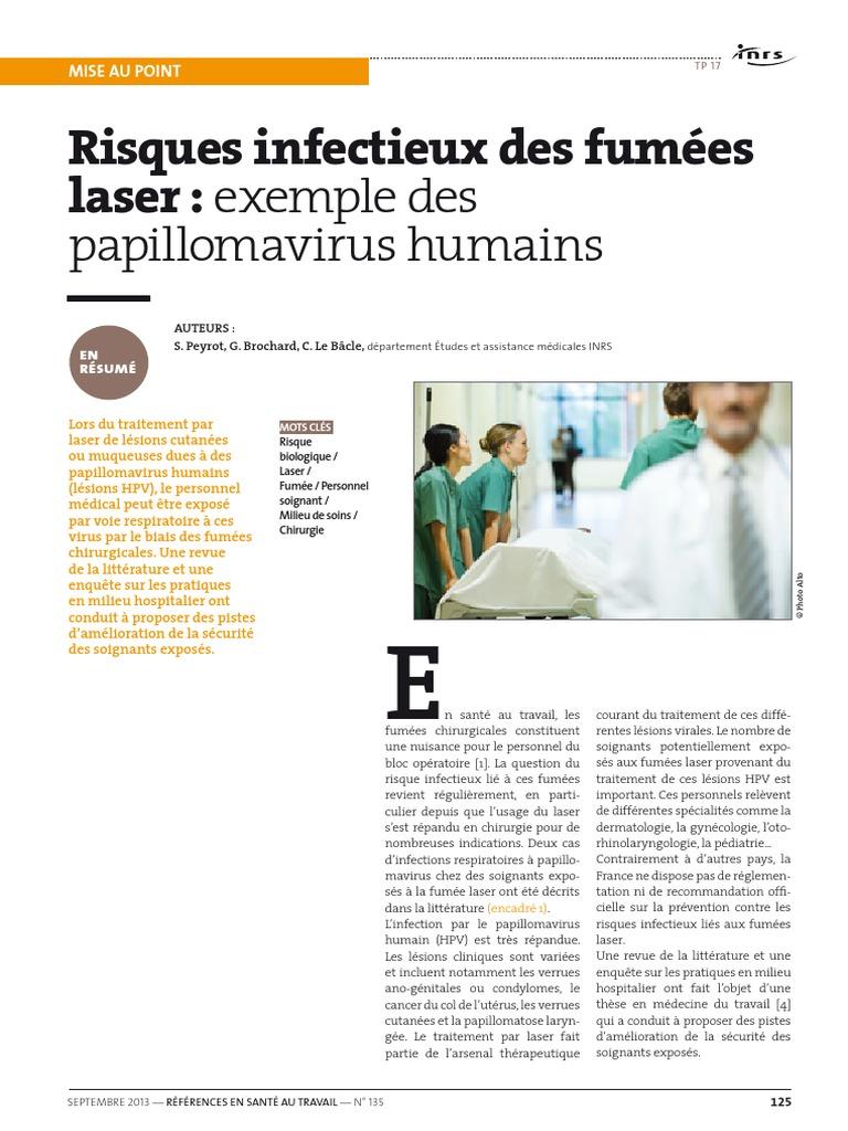 papillomavirus et traitement laser el papiloma humano virus