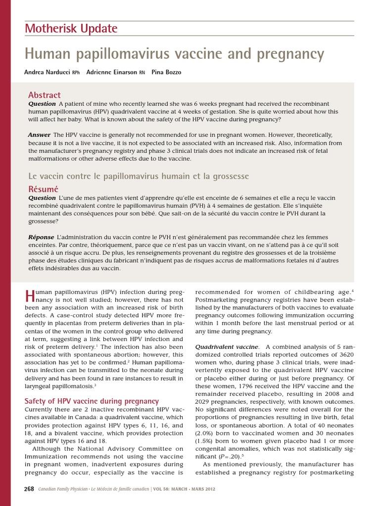 papillomavirus humain complications