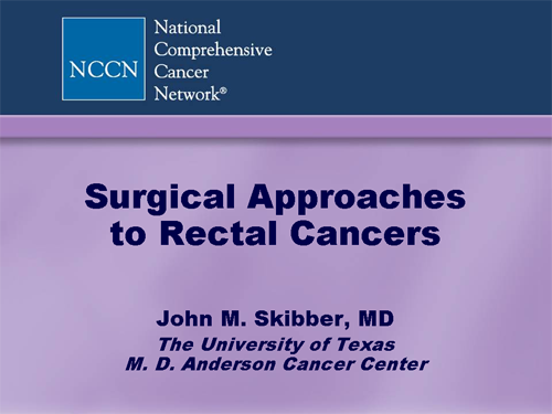 rectal cancer questions for oncologist