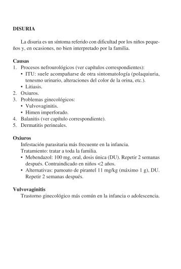 tratamiento oxiuros pediatria