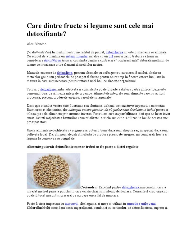 detoxifiere prin osmoza