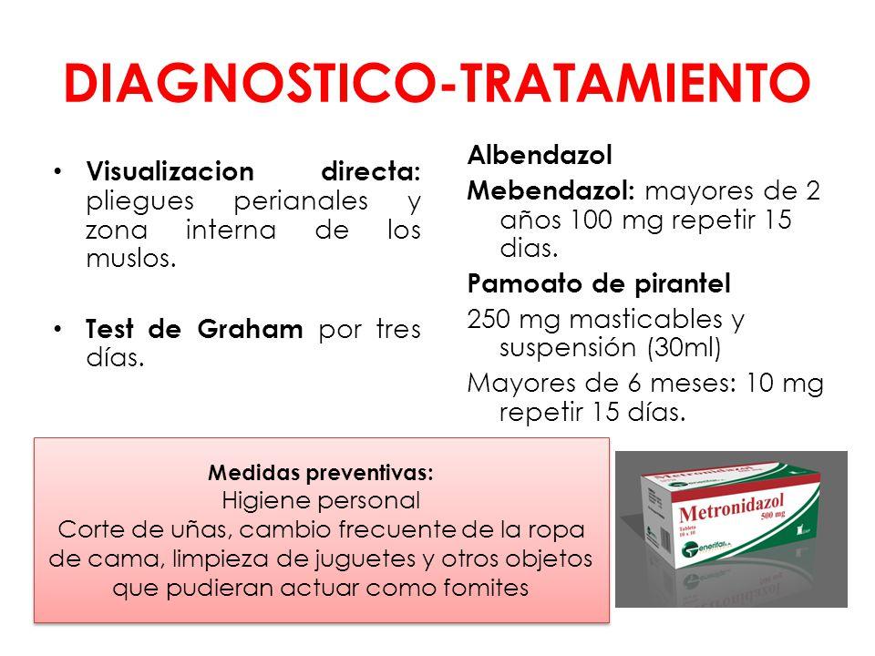 tratamiento oxiuros pediatria)