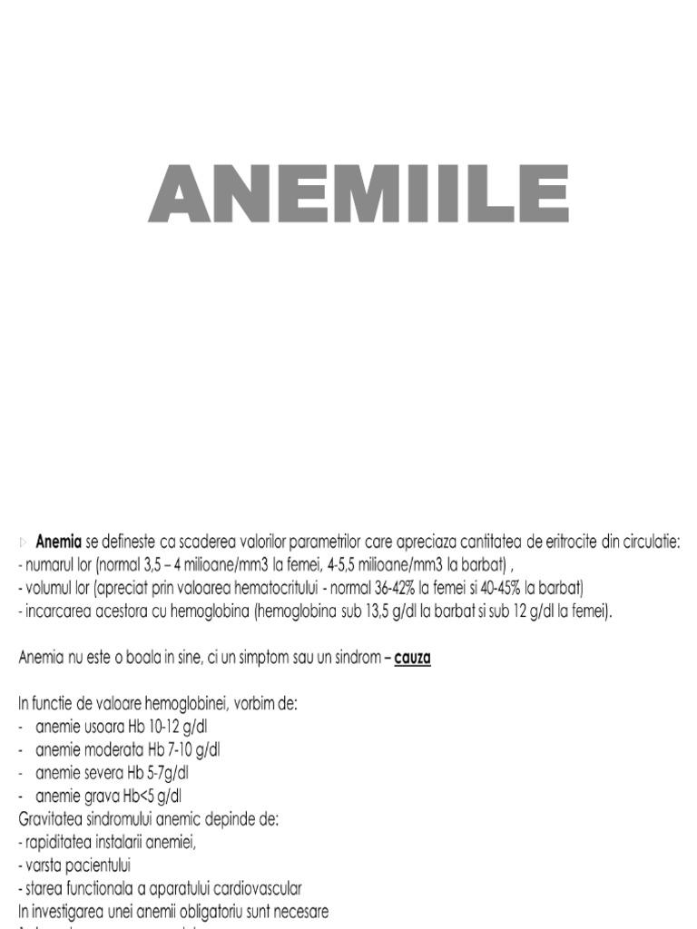 anemie 7g