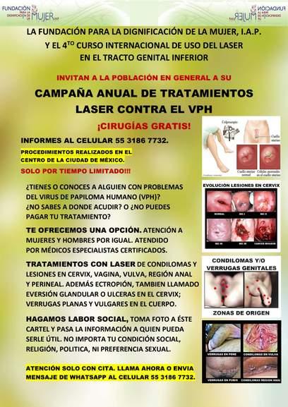 virus del papiloma tratamiento en hombres cancer feminin la san