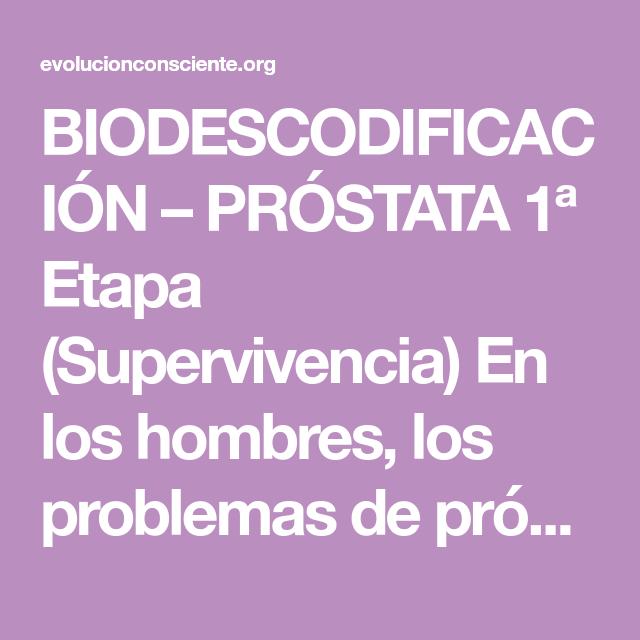 cancer de prostata biodescodificacion