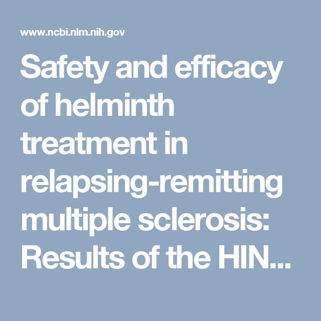 helminth therapy nih