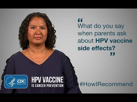 side effects from human papillomavirus vaccine