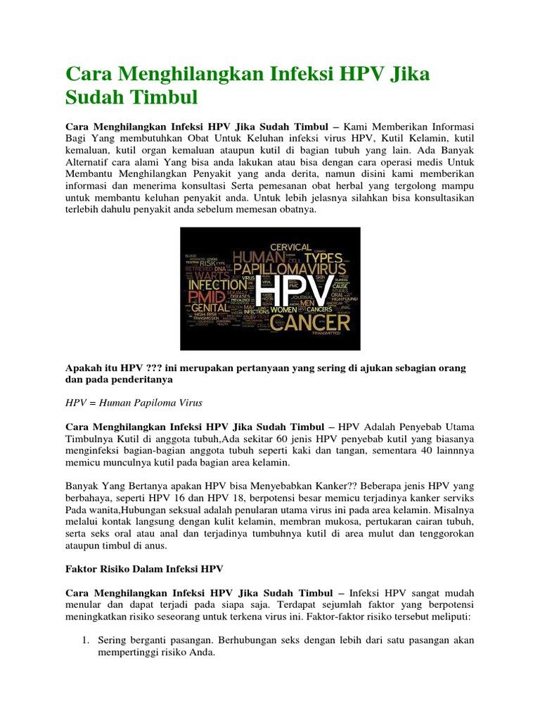 cara menghilangkan virus hpv dalam tubuh