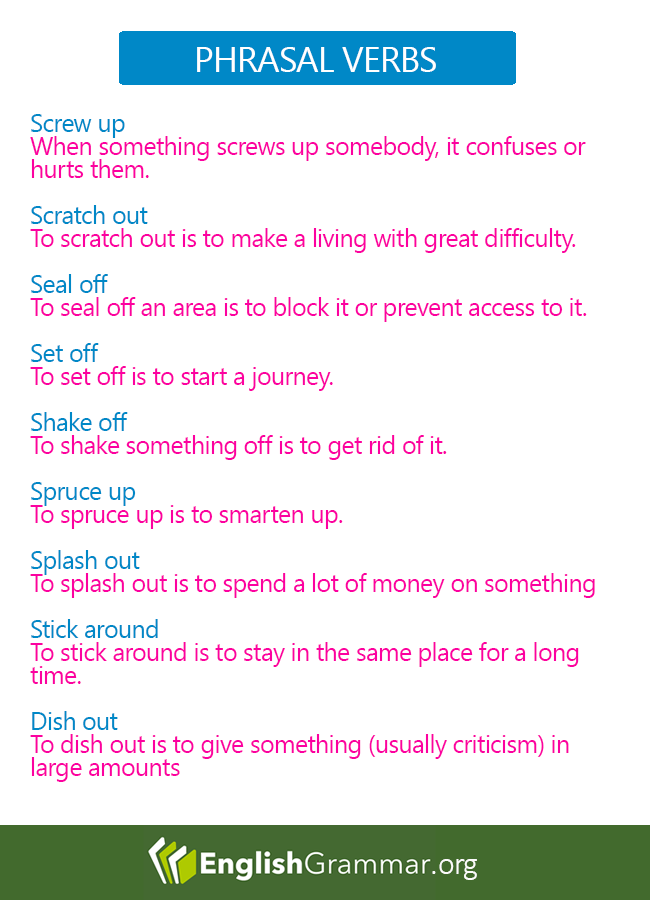 to stick a verb