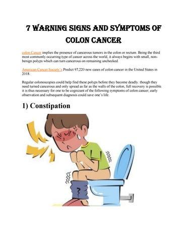 Intestinal Cancer Early Symptoms Colonoscopy Timi