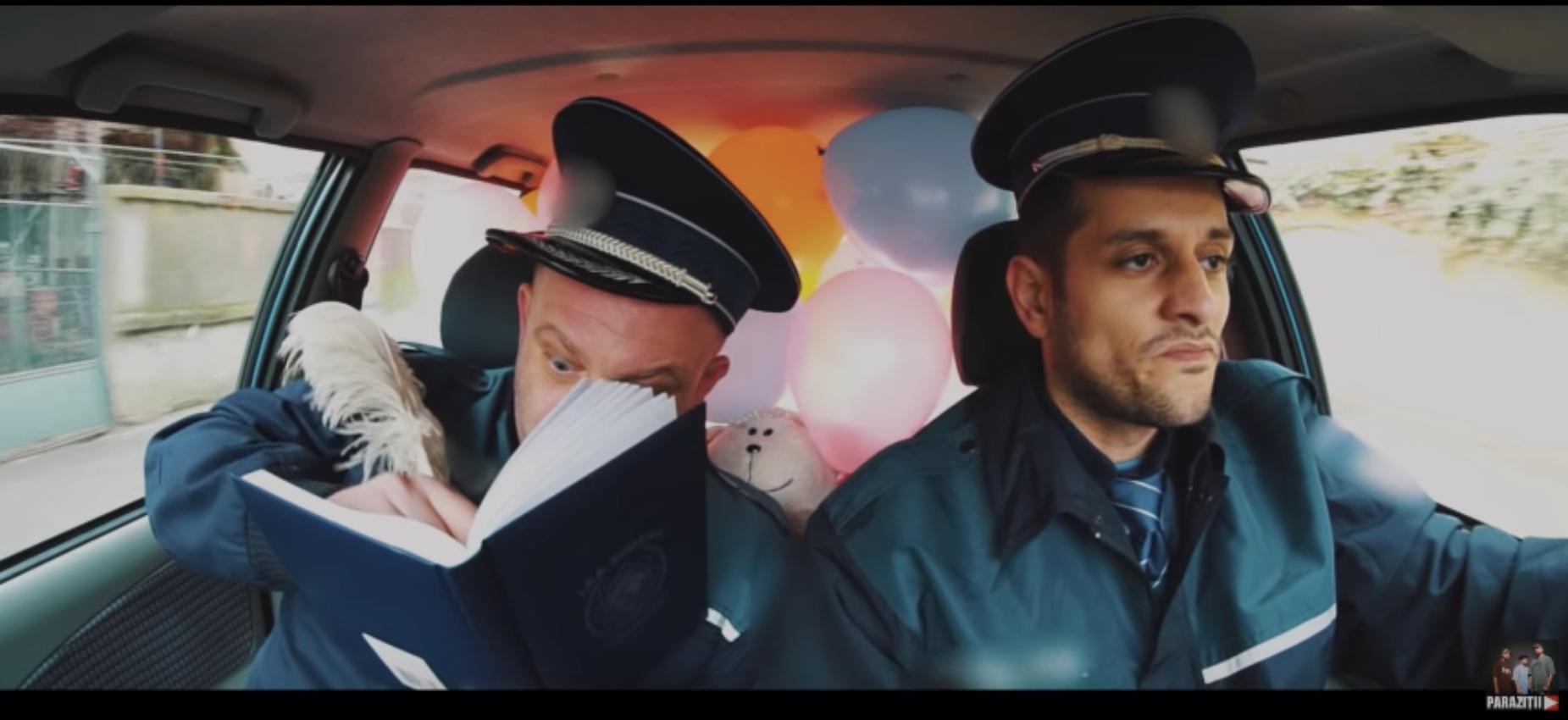 Parazitii fac misto de Politia Rutiera in cel mai nou videoclip