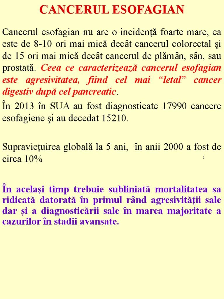 cancer esofagian cu metastaze