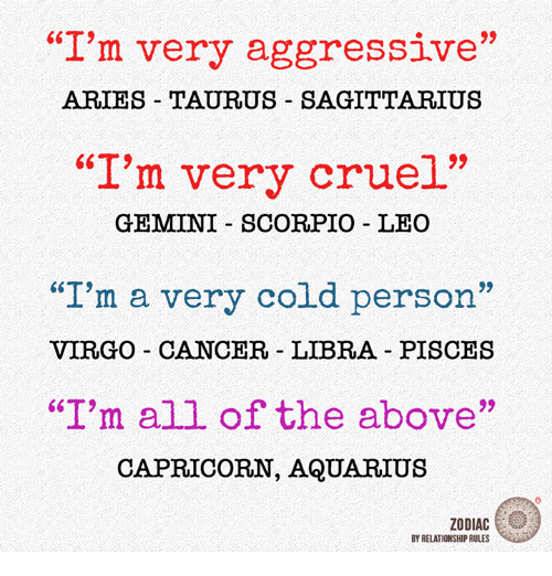cancer sign aggressive