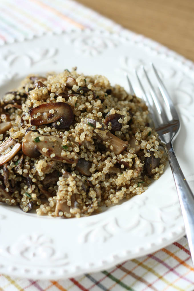 ciuperci si quinoa