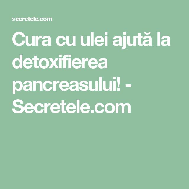 detoxifierea pancreasului natural