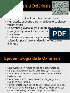 enterobius vermicularis y oxiuriasis cancer cauze genetice