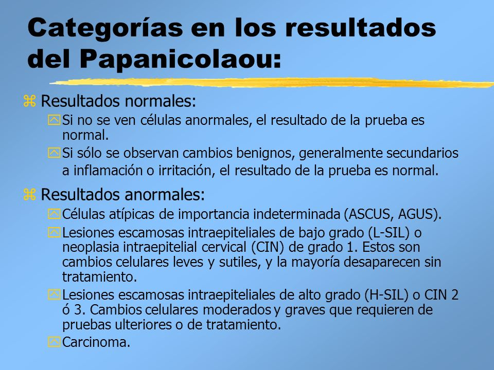 papanicolau normal y anormal